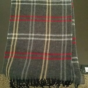 New Men's Plaid Wool Scarf